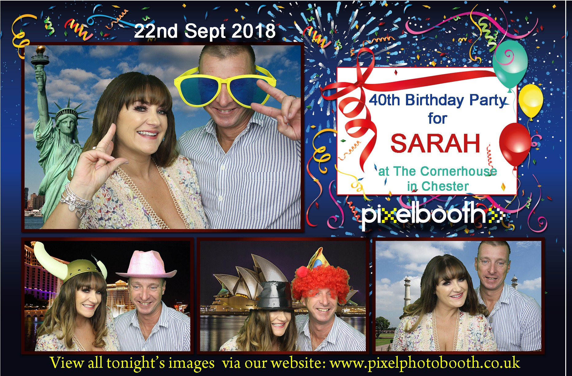 22nd Sept 2018: Sarah's 40th Birthday at The Cornerhouse, Chester