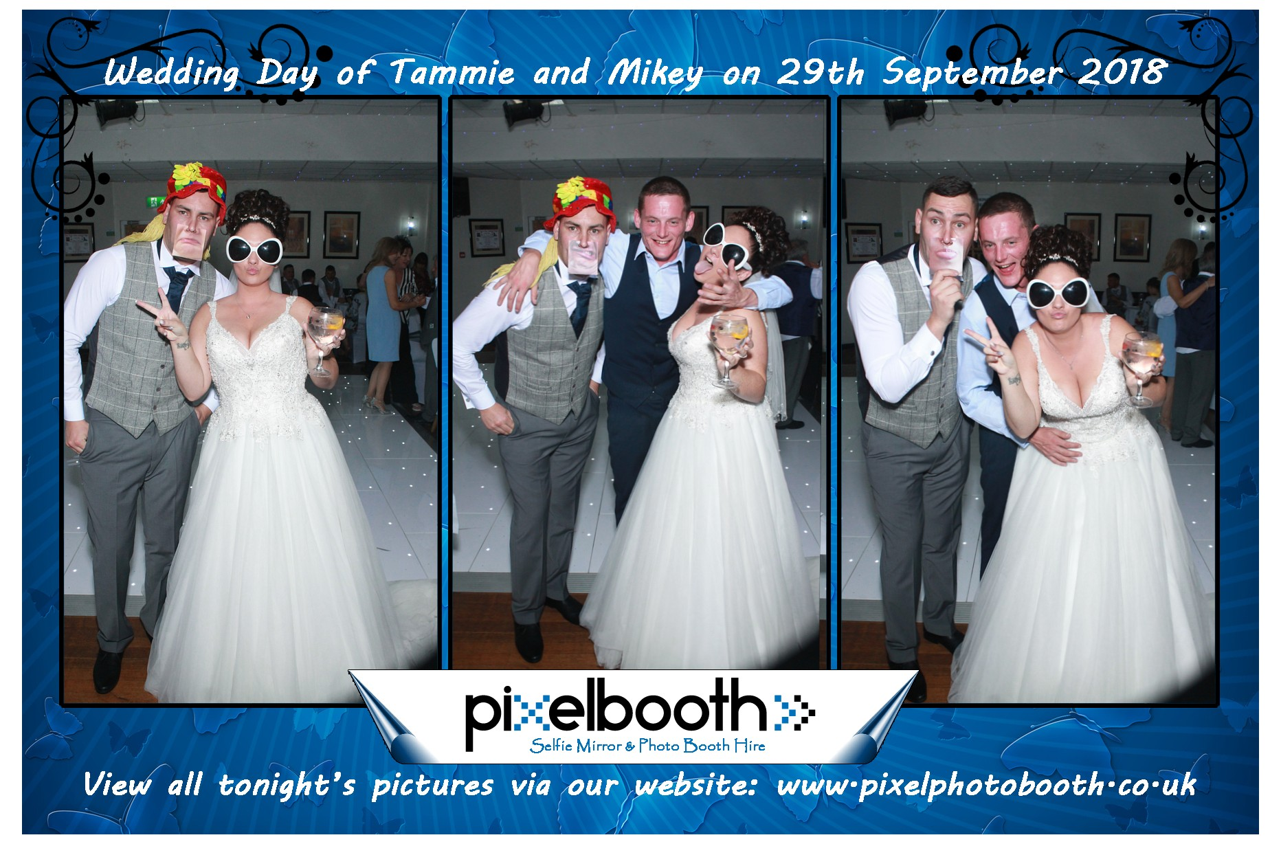 29th Sept 2018: Tammie and Mikey's Wedding at St. Joseph's club