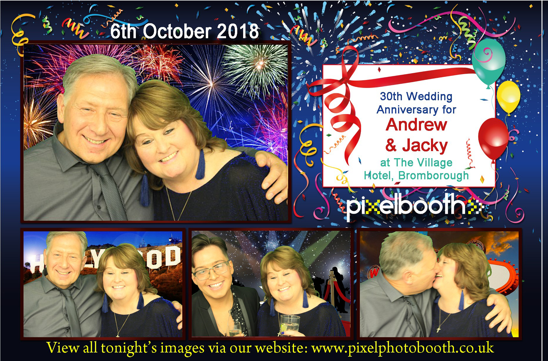 6th Oct 2018: Andrew and Jacky's Wedding anniversary at The Village Hotel