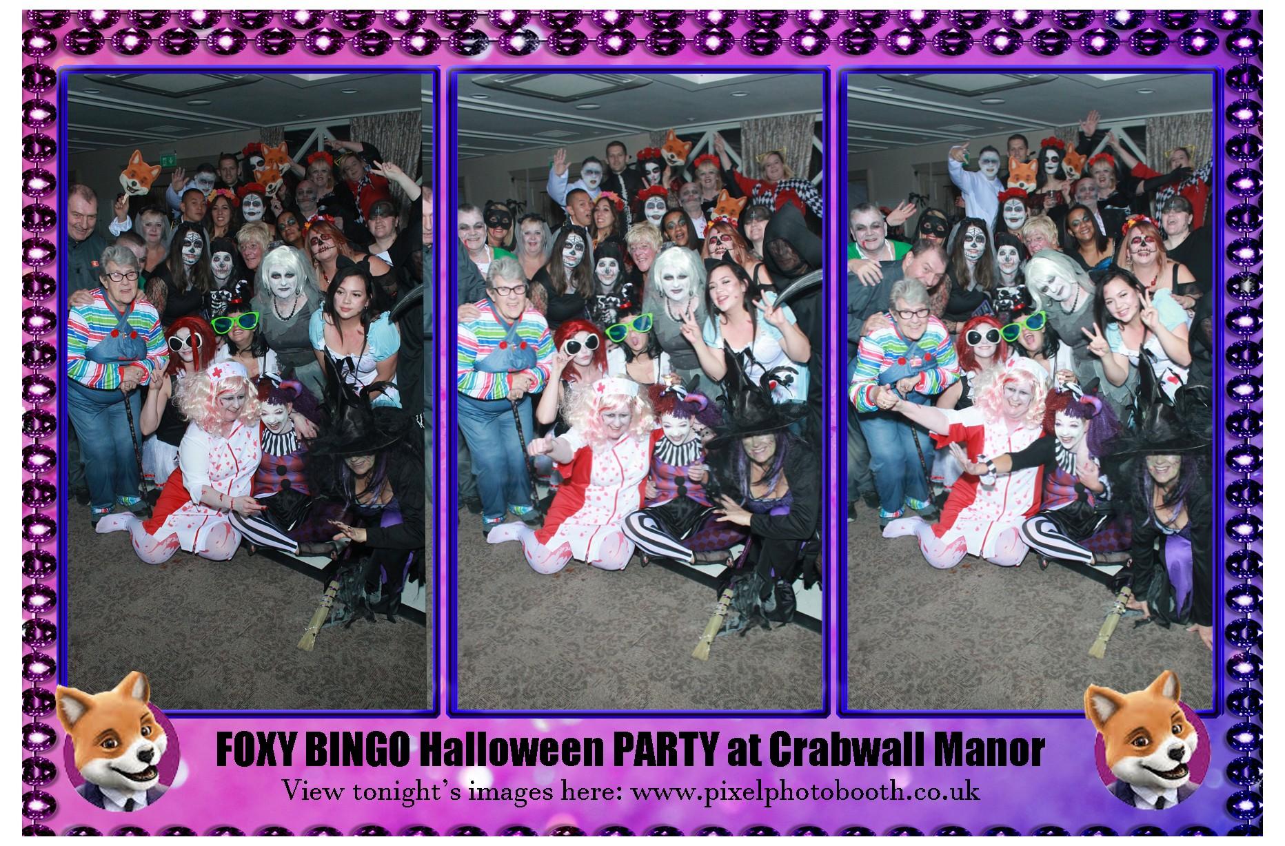 27th Oct 2018: FOXY BINGO at Crabwall Manor