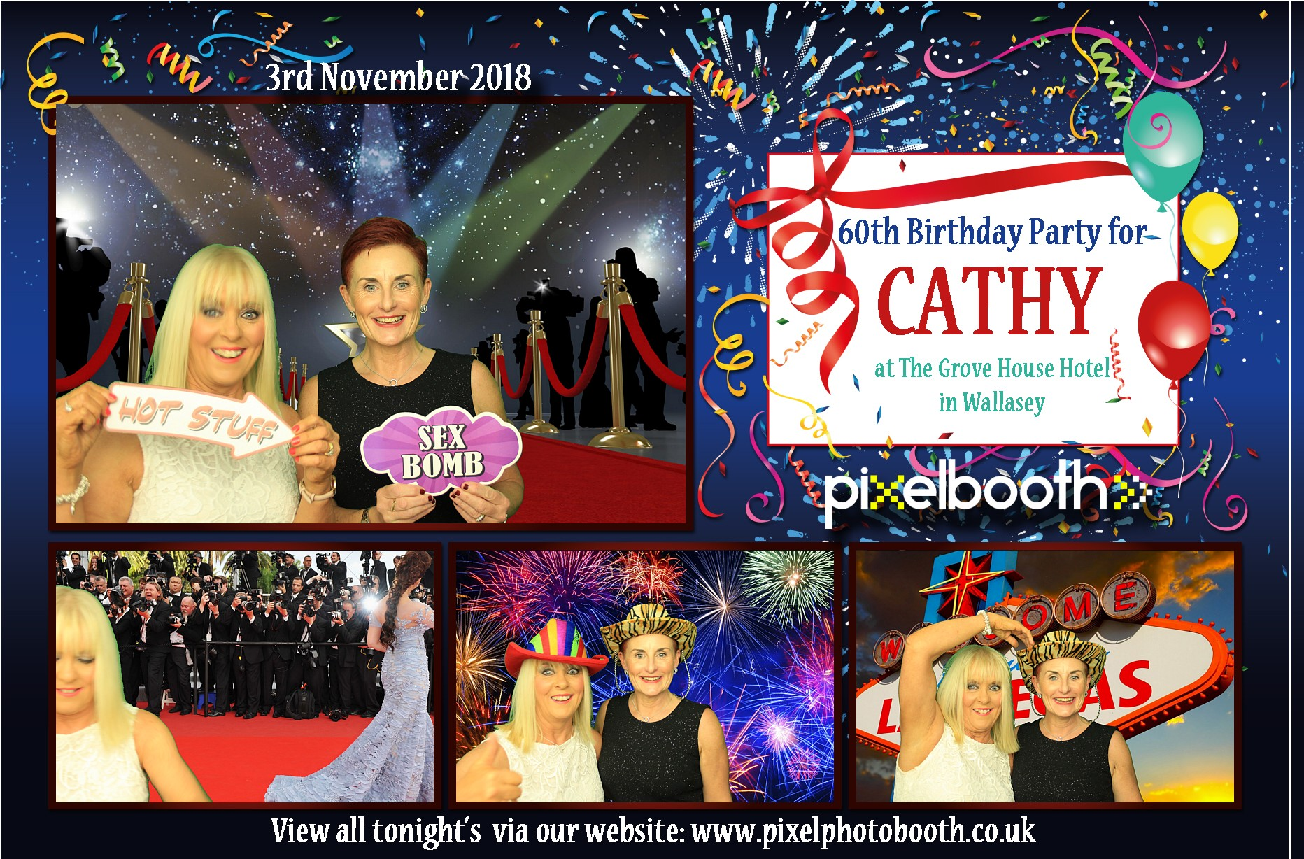 3rd Nov 2018: 60th for Cathy at Grove House Hotel, Wallasey